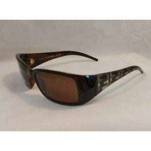 Fendi Sunglasses FS300 Brown/Gold Italy